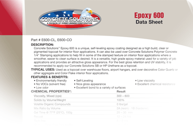 Epoxy 600 - Coating Broadcasting System